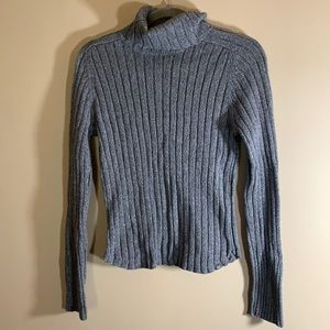 American Eagle Grey Knit Turtleneck Sweater